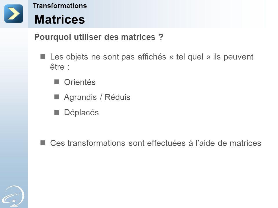 Pourquoi utiliser des matrices .
