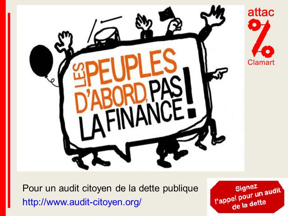 Pour un audit citoyen de la dette publique http://www.audit-citoyen.org/