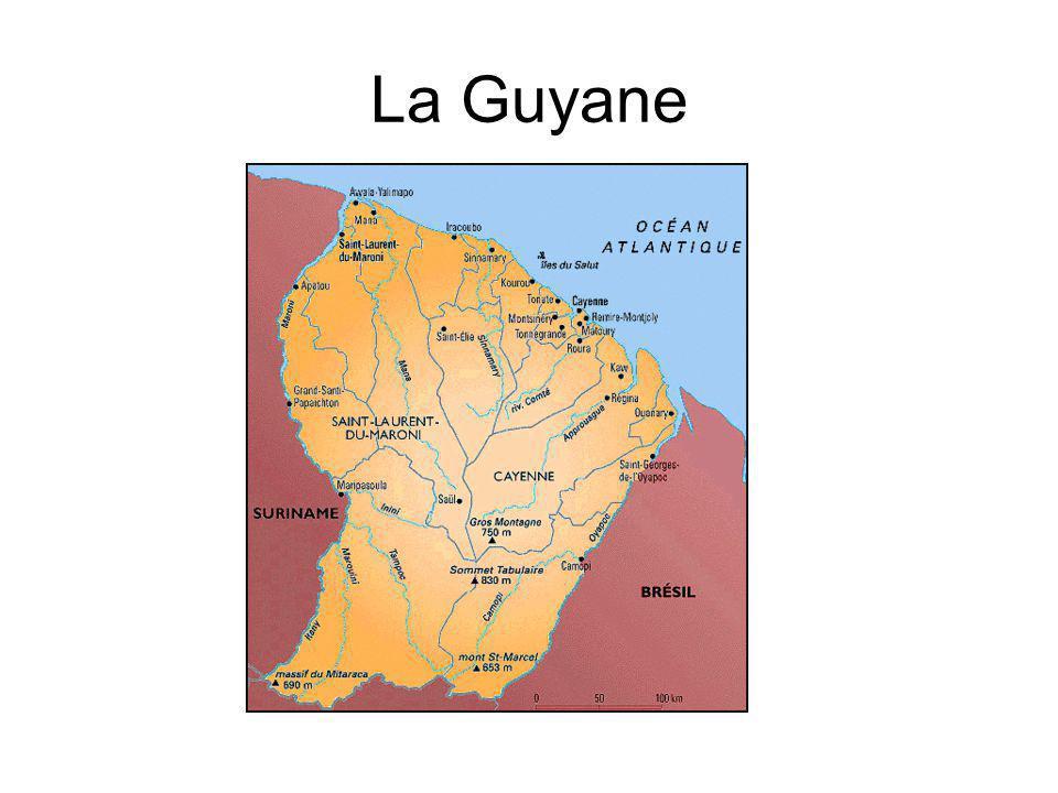 Géographie : La Guyane se trouve : ← dans le continent Sud-américain.
