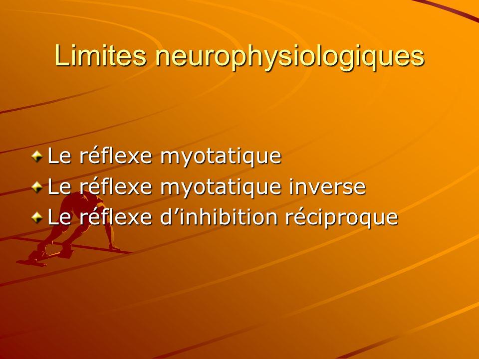 Le réflexe myotatique Le réflexe myotatique inverse Le réflexe d'inhibition réciproque