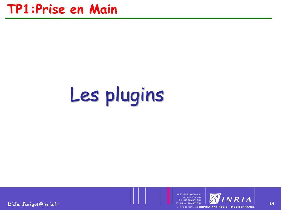 14 Didier.Parigot@inria.fr TP1:Prise en Main Les plugins