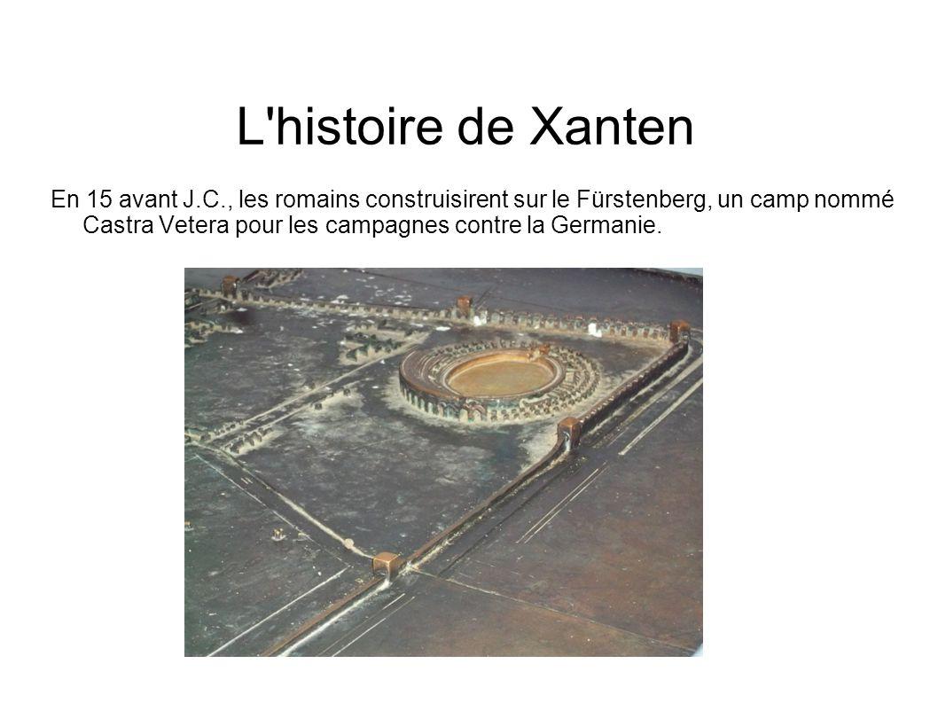 Plan général du site.Voici la représentation en métal du site archéologique de Xanten.