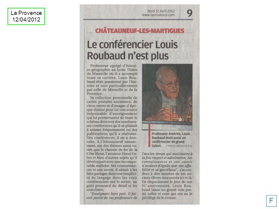 F La Provence 12/04/2012