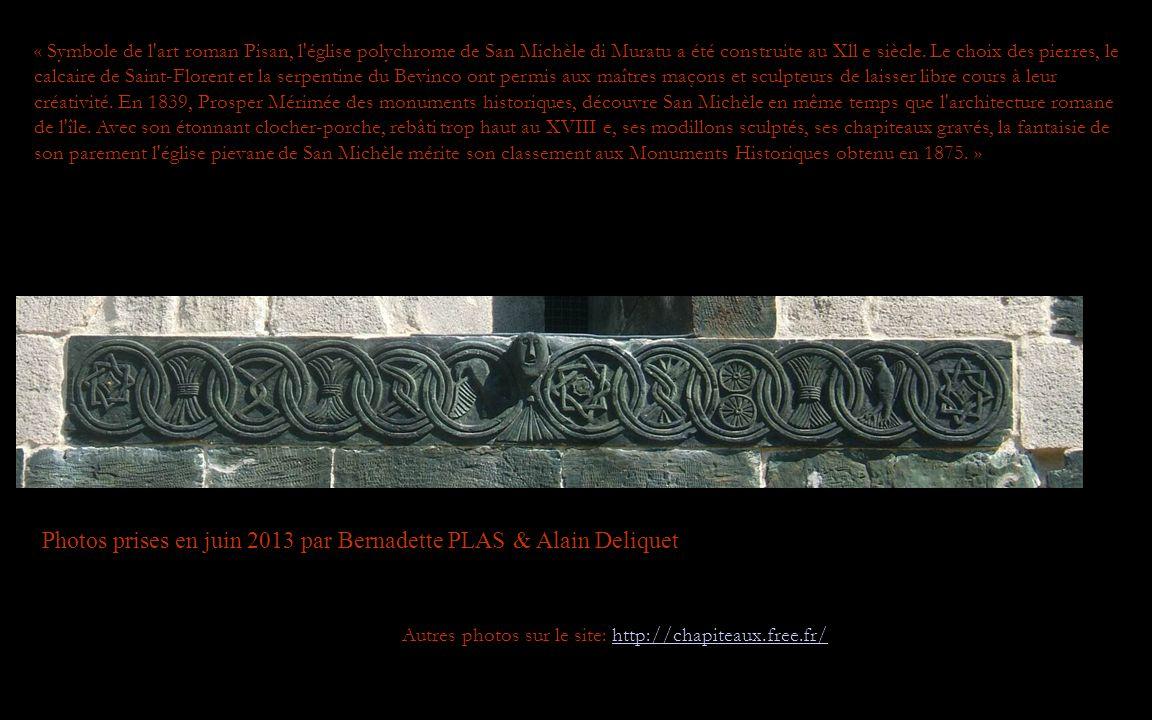 Photos prises en juin 2013 par Bernadette PLAS & Alain Deliquet Autres photos sur le site: http://chapiteaux.free.fr/http://chapiteaux.free.fr/ « Symbole de l art roman Pisan, l église polychrome de San Michèle di Muratu a été construite au Xll e siècle.