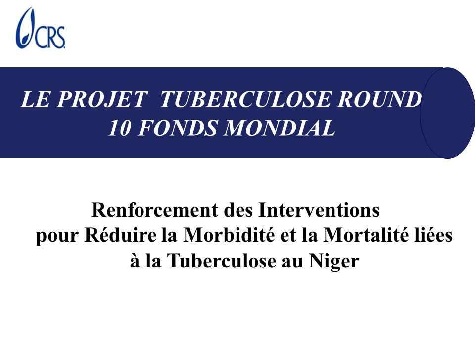 5 Objectifs Spécifiques Etendre la DOTS à 60% de détection et 85% de Succès des traitements Prendre en charge la Co-infection Tuberculose Sida; Impliquer les prestataires du public dans la stratégie DOT; Améliorer les connaissances sur la prévention et le contrôle de la tuberculose Améliorer la lutte contre la tuberculose par les recherches opérationnelles le suivi et des évaluations OBJECTIFS DU PROJET