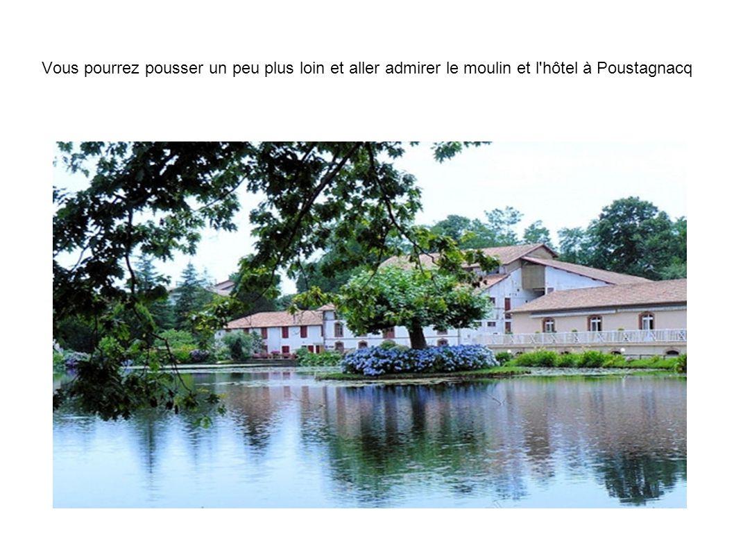 Vous pourrez pousser un peu plus loin et aller admirer le moulin et l'hôtel à Poustagnacq