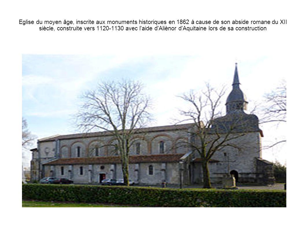 Eglise du moyen âge, inscrite aux monuments historiques en 1862 à cause de son abside romane du XII siècle, construite vers 1120-1130 avec l'aide d'Al