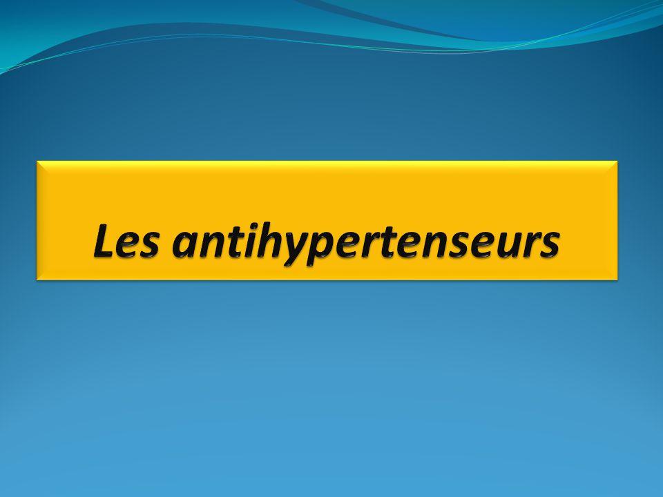 -INTRODUCTION I.L'HYPERTENSION I.1.DEFINITION I.2.LES CAUSES I.3.LES SYMPTOMES II.LES ANTIHYPERTENSEURS II.1.-DEFINITION II.2.-LE TRAITEMENT MEDICAL II.3.CLASSIFICATION II.4.-MECANISME D'ACTION II.5.EFFETS HEMODYNAMIQUES A LONG TERME II.6.INDICATION II.7.-CONTRE INDICATION II.8.-EFFETS SECONDAIRES II.9.-PHARMACOCINETIQUE II.10.-POSOLOGIE II.11-CONCLUSION