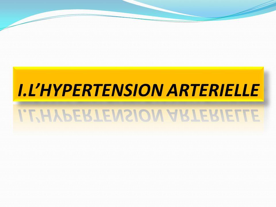 I.1.DEFINITION pression artérielle (termes plus corrects que « tension artérielle ») correspond à la pression que le sang exerce sur la paroi des artères.