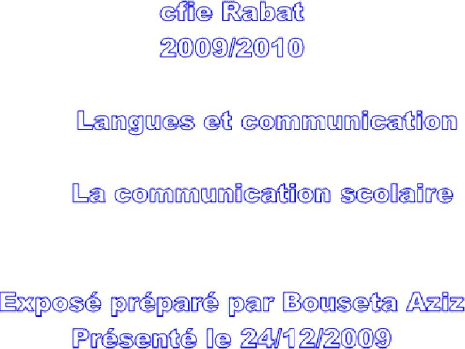 Plan de l'exposé Introduction Aspects de La Communication scolaire La communication et l'évaluation La communication et l'enseignant La communication et la didactique