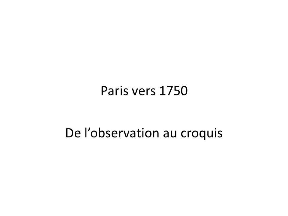 Paris vers 1750 De l'observation au croquis