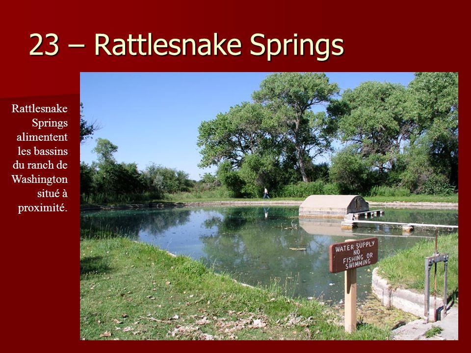 23 – Rattlesnake Springs Rattlesnake Springs alimentent les bassins du ranch de Washington situé à proximité.