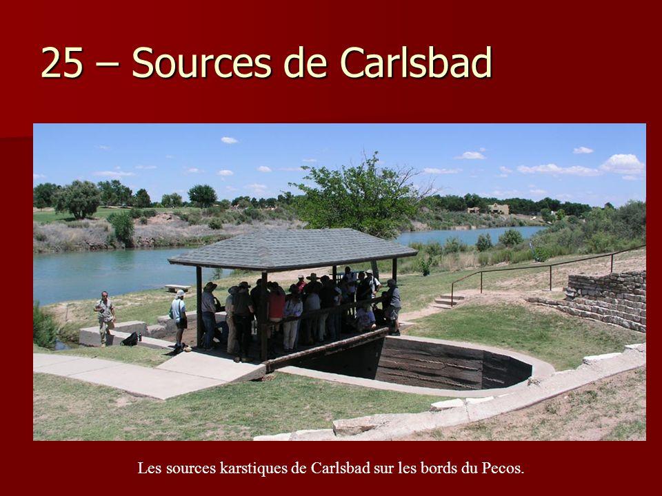 25 – Sources de Carlsbad Les sources karstiques de Carlsbad sur les bords du Pecos.