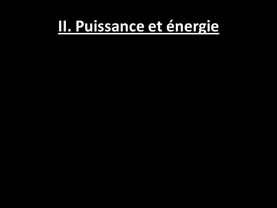 II. Puissance et énergie