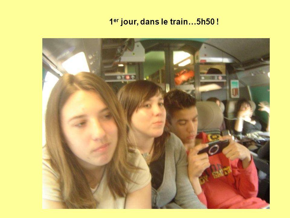 1 er jour, dans le train…5h50 !
