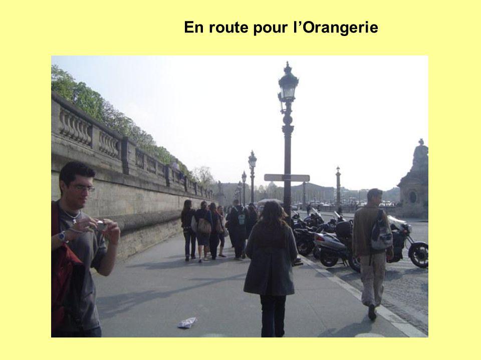 En route pour l'Orangerie