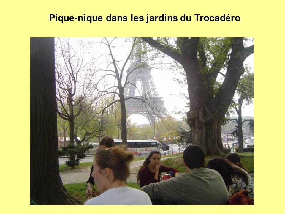 Pique-nique dans les jardins du Trocadéro