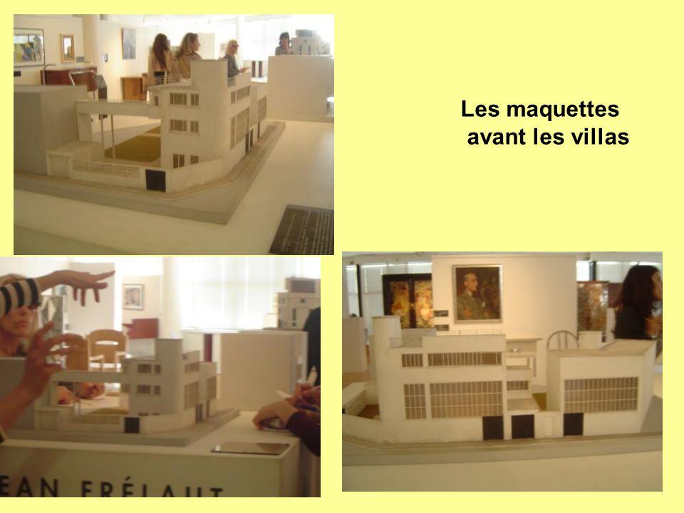 Les maquettes avant les villas