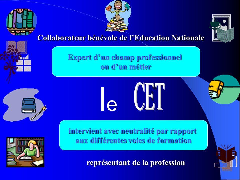 Collaborateurbénévoledel'EducationNationale Collaborateur bénévole de l'Education Nationale représentantdelaprofession représentant de la profession E