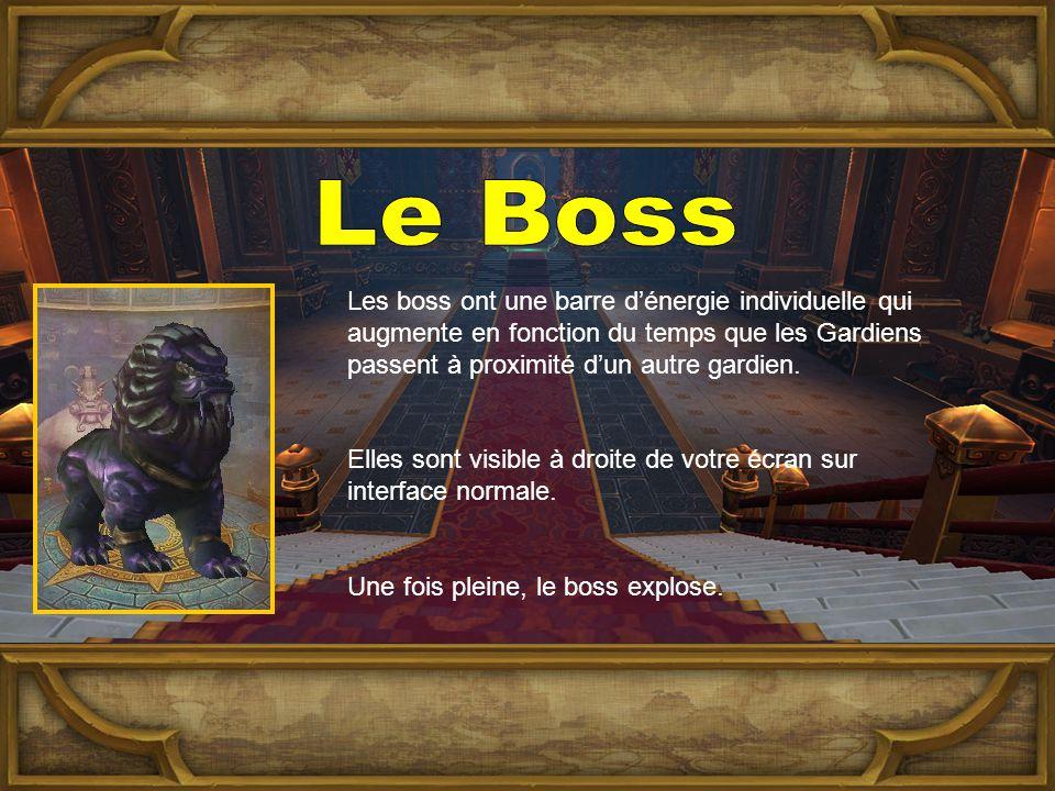 Les boss ont une barre d'énergie individuelle qui augmente en fonction du temps que les Gardiens passent à proximité d'un autre gardien.
