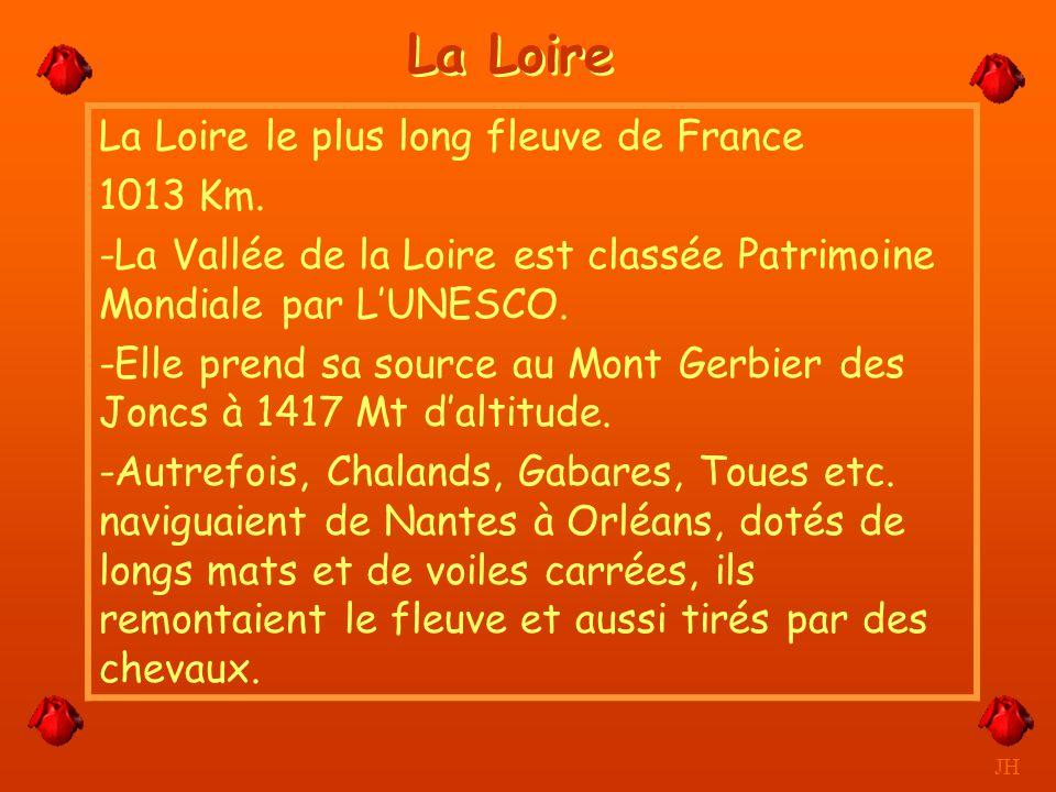 Les larges bras de la Loire et son île. JH Tours
