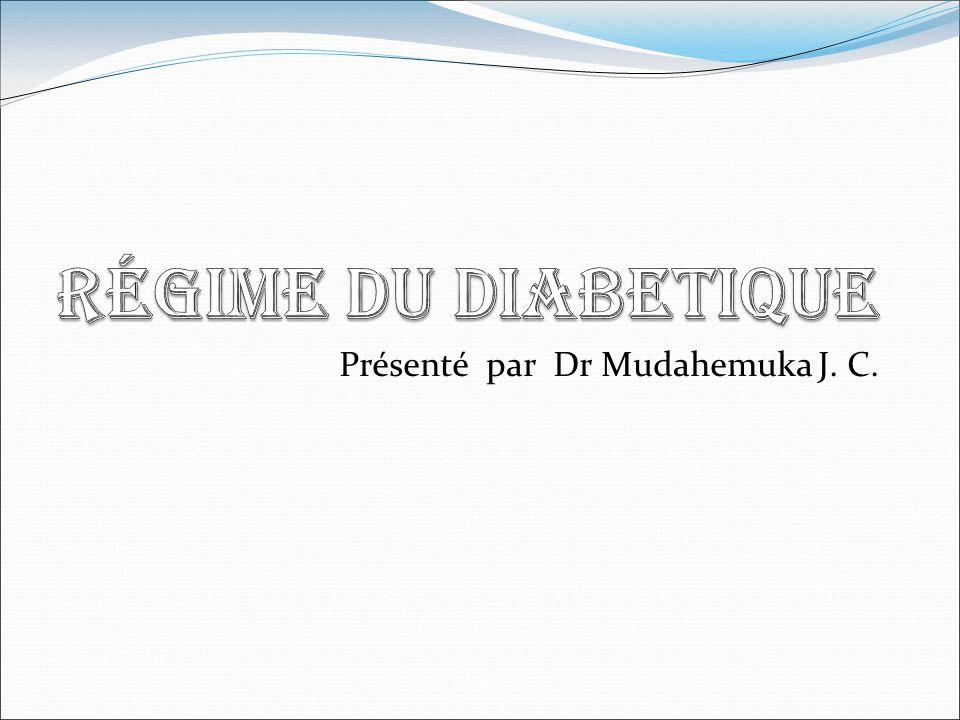 Présenté par Dr Mudahemuka J. C.