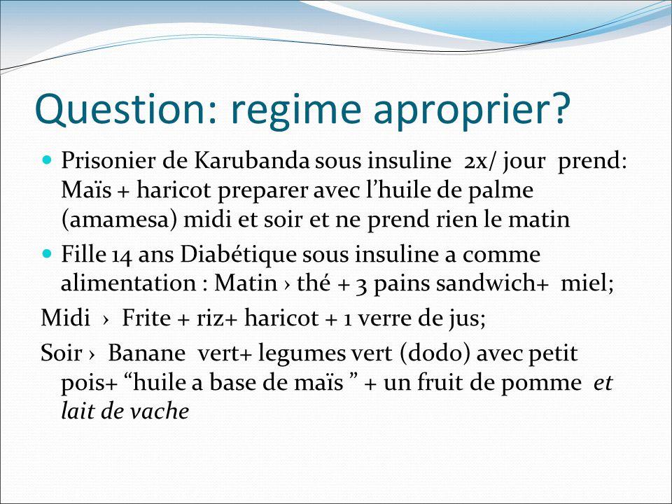 Question: regime aproprier.