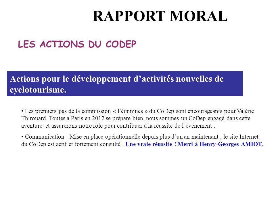 Les premièrs pas de la commission « Féminines » du CoDep sont encourageants pour Valérie Thirouard. Toutes a Paris en 2012 se prépare bien, nous somme