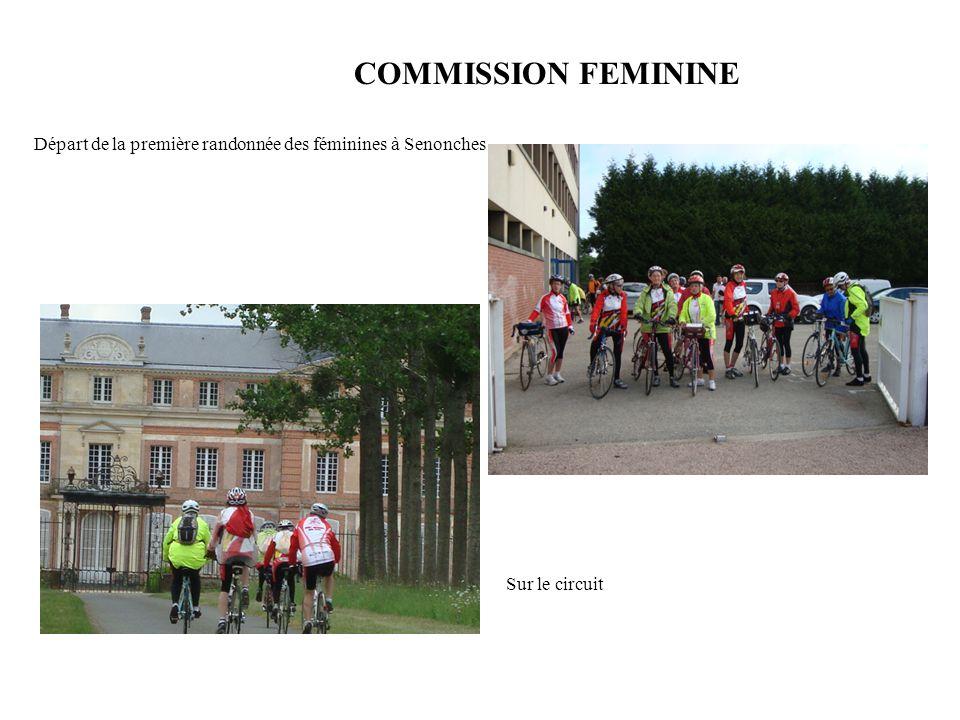 Départ de la première randonnée des féminines à Senonches Sur le circuit COMMISSION FEMININE