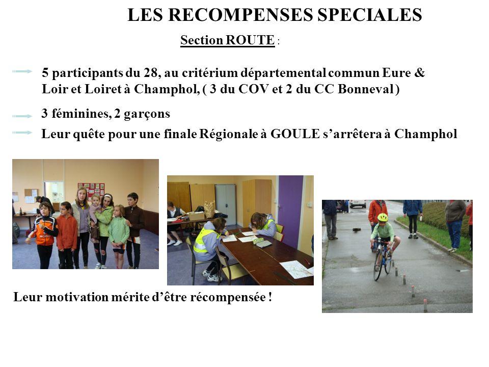Section ROUTE : 5 participants du 28, au critérium départemental commun Eure & Loir et Loiret à Champhol, ( 3 du COV et 2 du CC Bonneval ) Leur quête