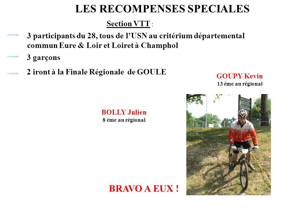 Section VTT : 3 participants du 28, tous de l'USN au critérium départemental commun Eure & Loir et Loiret à Champhol 3 garçons BRAVO A EUX .