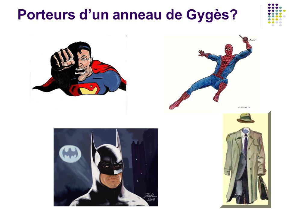 Porteurs d'un anneau de Gygès?