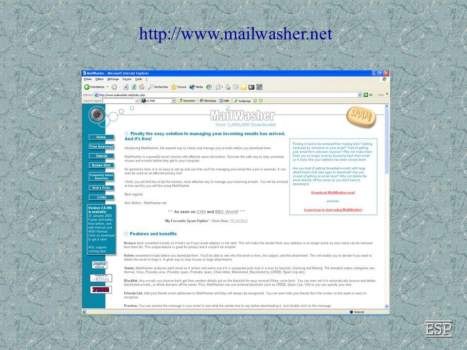 4. Transférer le résultat propre dans la boîte email 3.