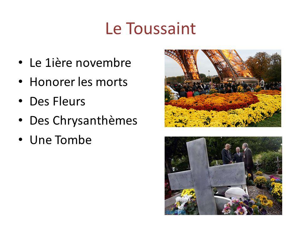 Le Toussaint Le 1ière novembre Honorer les morts Des Fleurs Des Chrysanthèmes Une Tombe