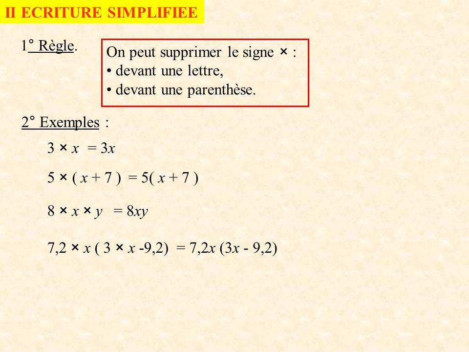 3° Carré et cube * Carré : x × x = x² On lit « x au carré » 2 est l'exposant * Cube x × x × x = x 3 On lit « x au cube »
