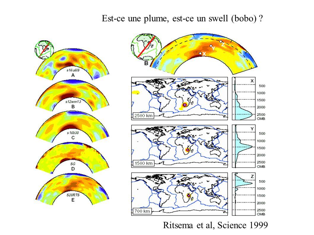 Est-ce une plume, est-ce un swell (bobo) Ritsema et al, Science 1999