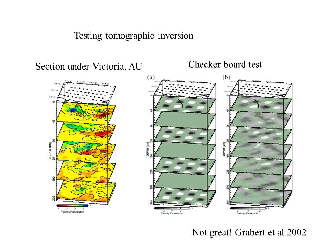 Tester la qualité de la tomographie est difficile Zelt et al, GRL, 1999