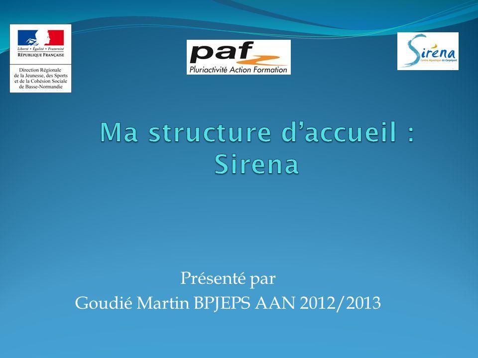 Présenté par Goudié Martin BPJEPS AAN 2012/2013