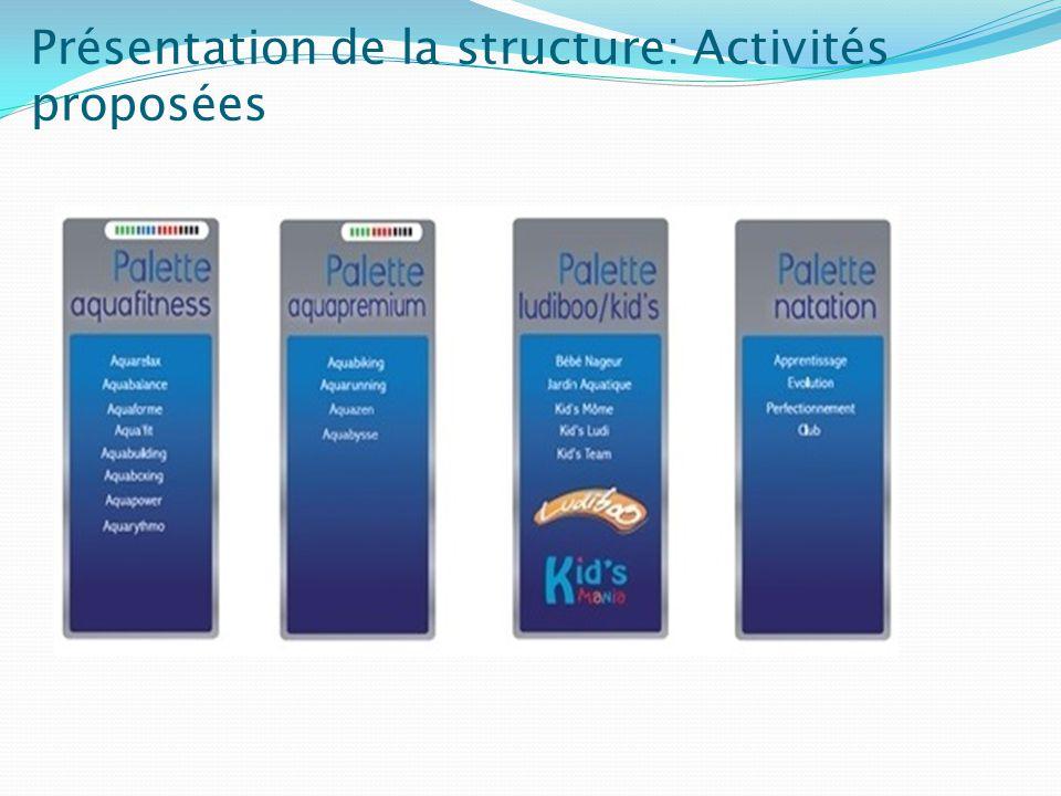 Présentation de la structure: Divertissement