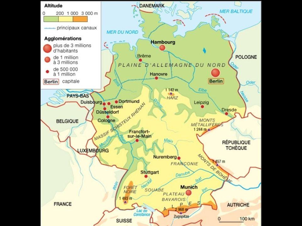 L'Allemagne : un territoire redessiné au cours du XXè siècle