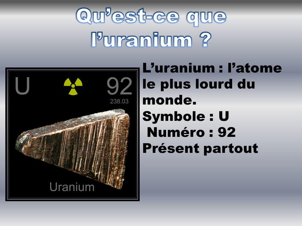 L'atome d'Uranium 235 possède une propriété particulière : son noyau peut se briser en deux morceaux sous l'impact d'un neutron.