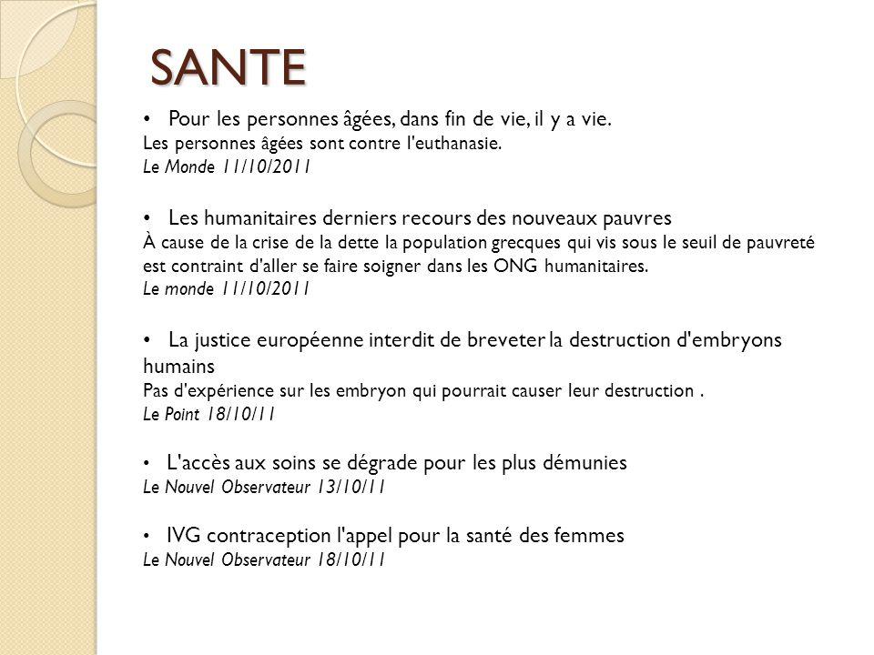 FAMINE Risque de famine au Yémen Le point 12/10/2011 La famine menace l est du Soudan Libération 11/10/2011 Afrique de l Ouest : « De la nourriture lorsqu il en manque » Le Monde 18/10/2011