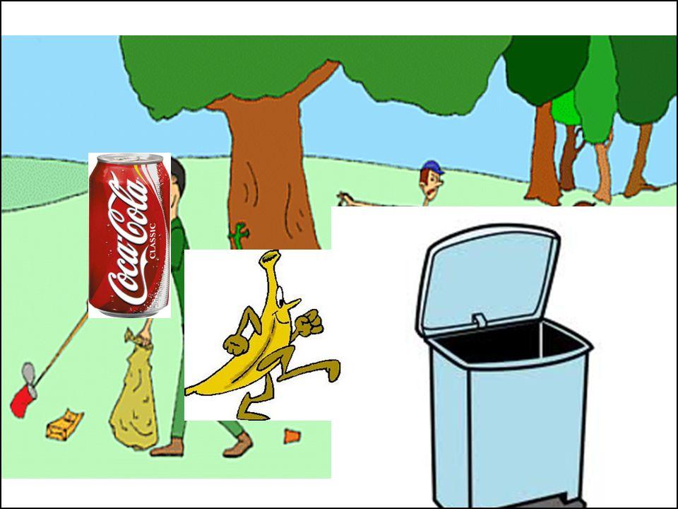 5.- Il est interdit de jeter la poubelle dans la rivière et la nature.