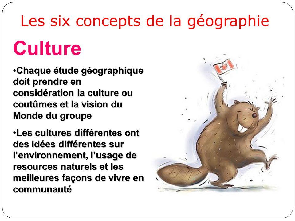 Culture Chaque étude géographique doit prendre en considération la culture ou coutûmes et la vision du Monde du groupeChaque étude géographique doit p