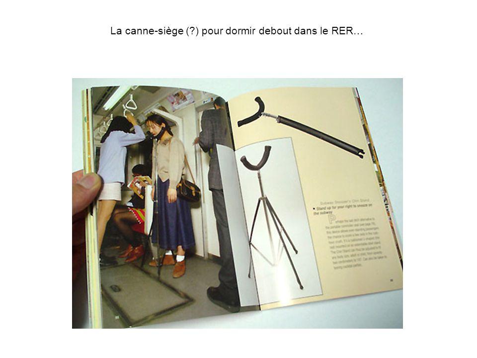 La canne-siège (?) pour dormir debout dans le RER…