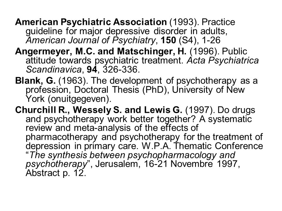 American Psychiatric Association (1993).