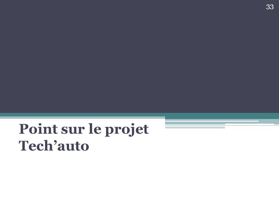 Point sur le projet Tech'auto 33