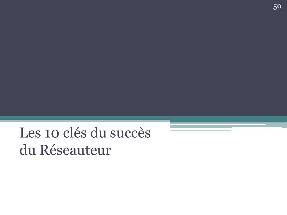 Les 10 clés du succès du Réseauteur 50