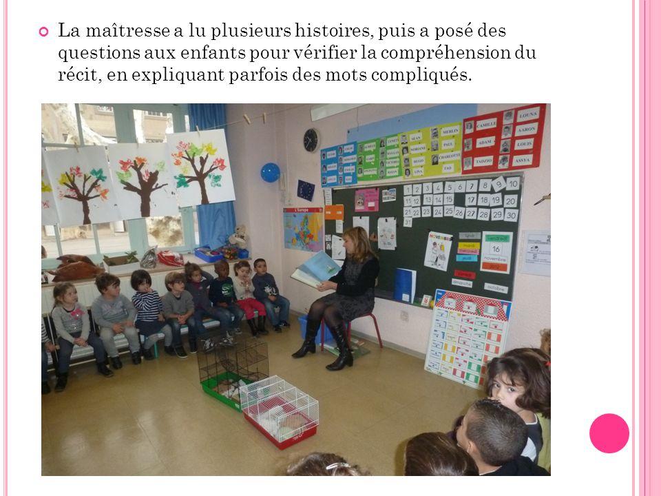 Puis les enfants ont sélectionné leur livre préféré, pour illustrer un moment de l'histoire.