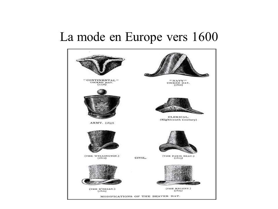 La mode en Europe vers 1600